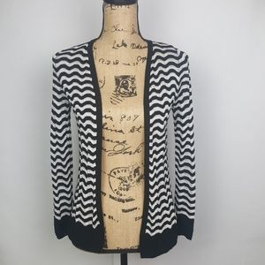 Loft | XSP Black and White Cardigan